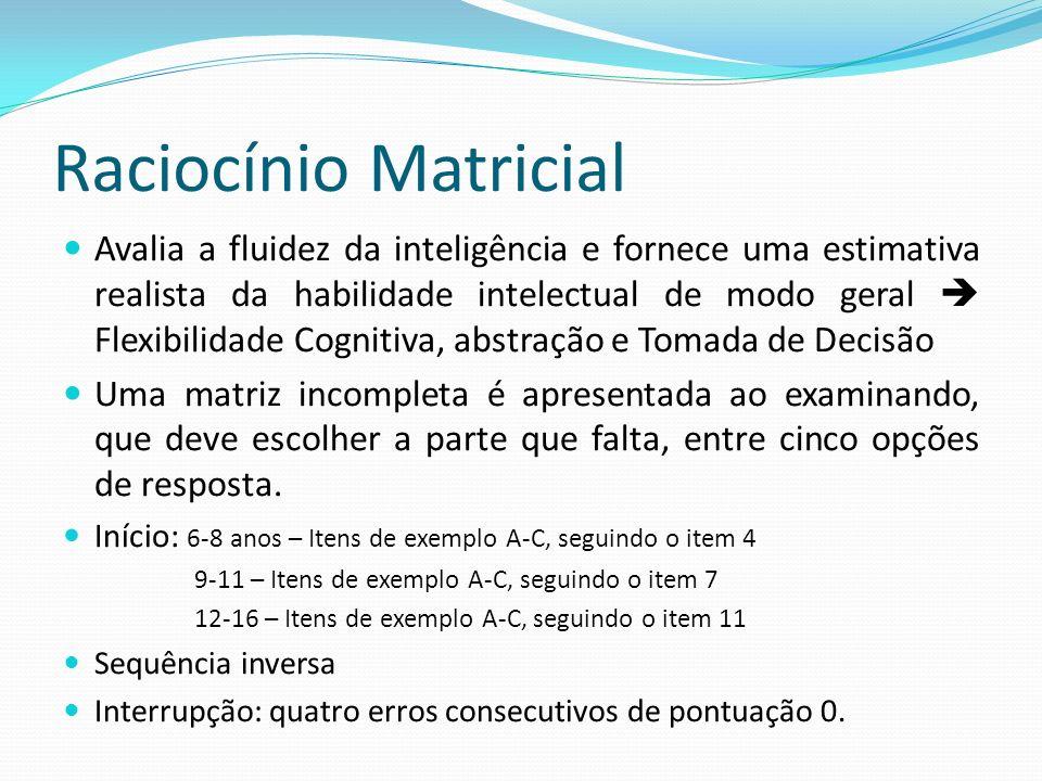 Raciocínio Matricial