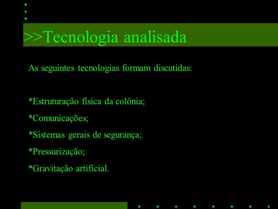 >>Tecnologia analisada