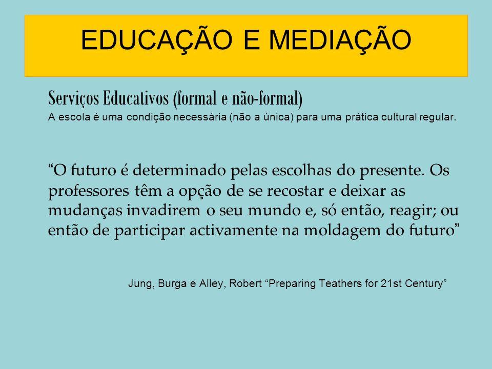 EDUCAÇÃO E MEDIAÇÃO Serviços Educativos (formal e não-formal)