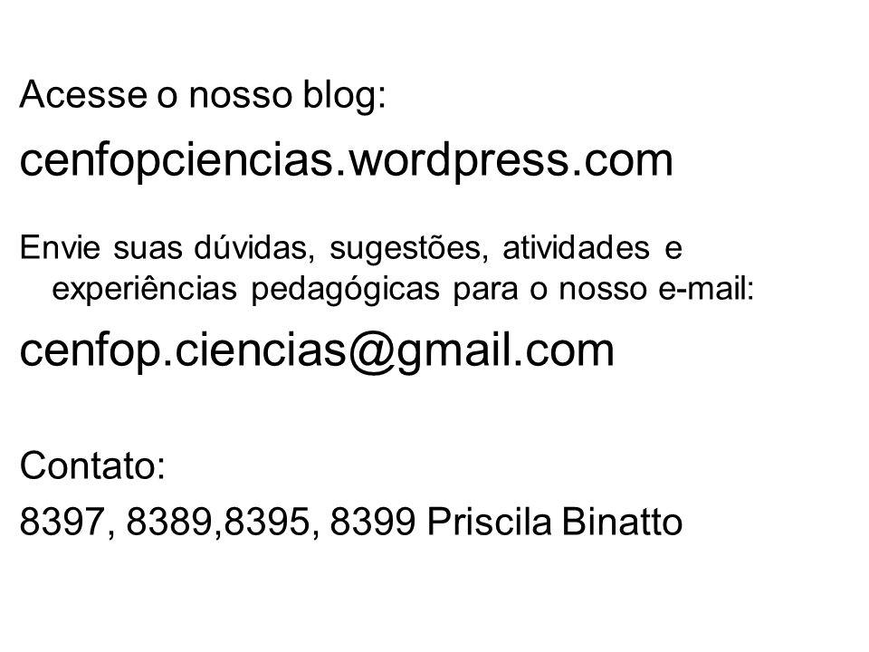 cenfopciencias.wordpress.com cenfop.ciencias@gmail.com