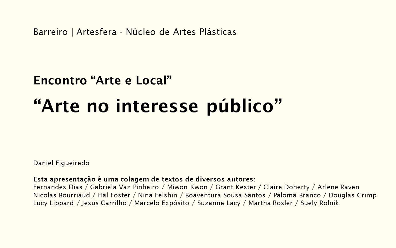 Arte no interesse público