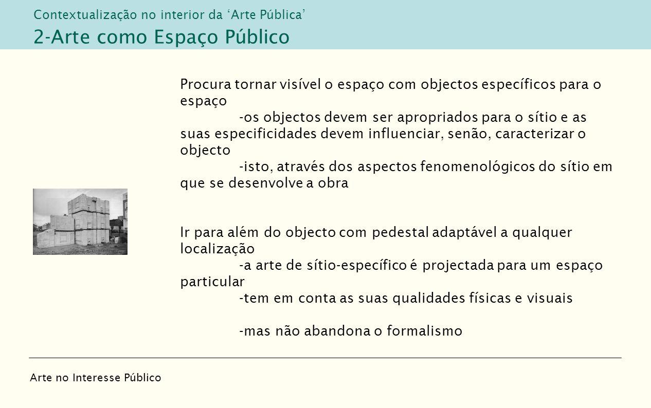 2-Arte como Espaço Público