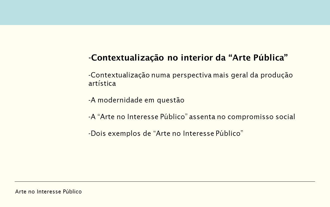 -Contextualização no interior da Arte Pública