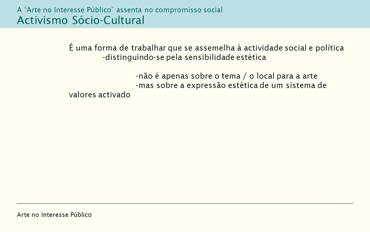 Activismo Sócio-Cultural