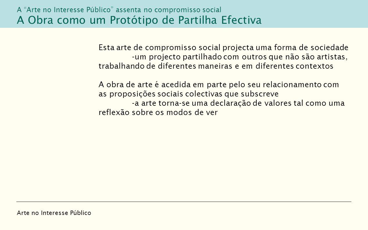 A Obra como um Protótipo de Partilha Efectiva