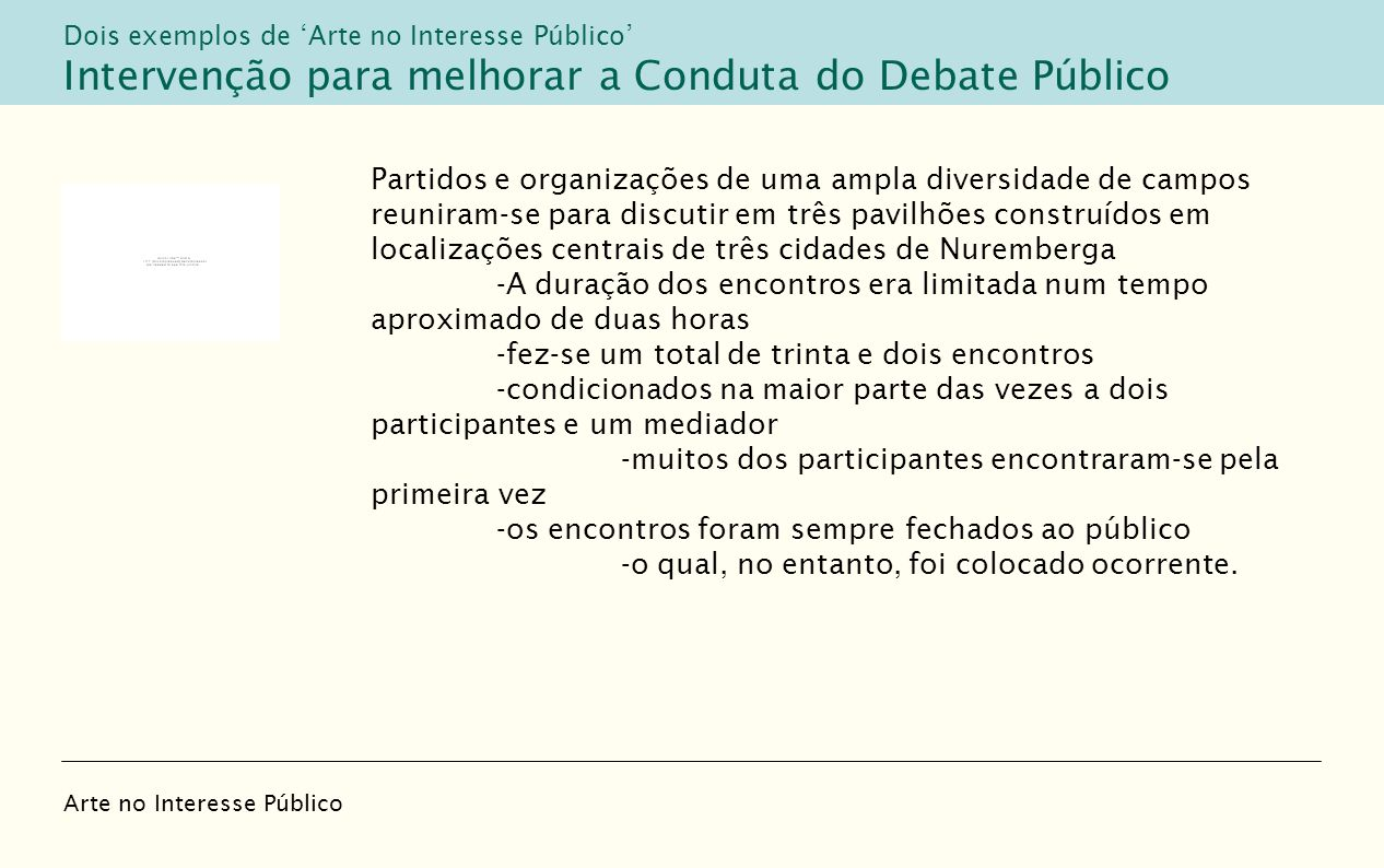 Intervenção para melhorar a Conduta do Debate Público