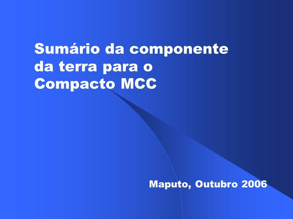 Sumário da componente da terra para o Compacto MCC