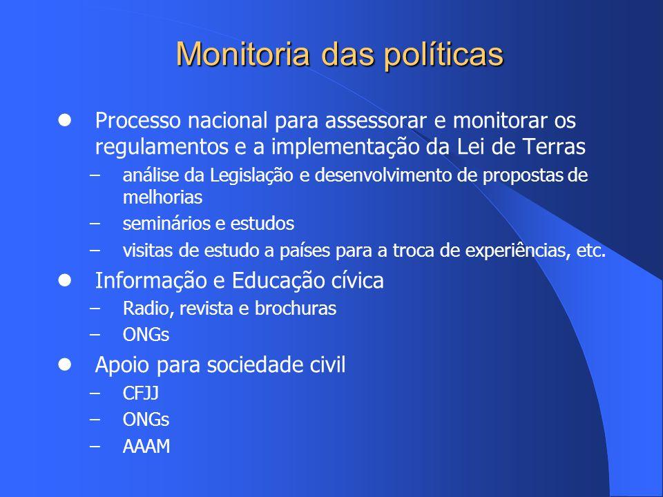 Monitoria das políticas