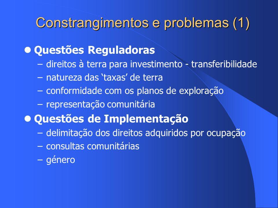 Constrangimentos e problemas (1)