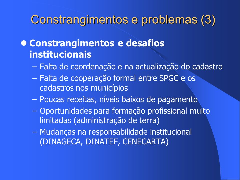Constrangimentos e problemas (3)