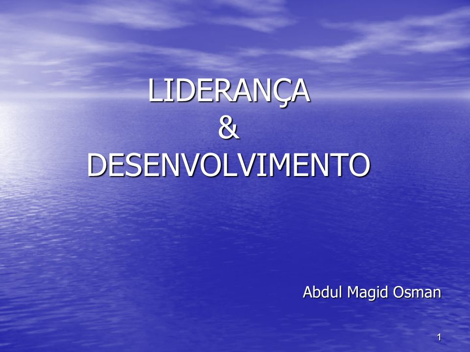 LIDERANÇA & DESENVOLVIMENTO