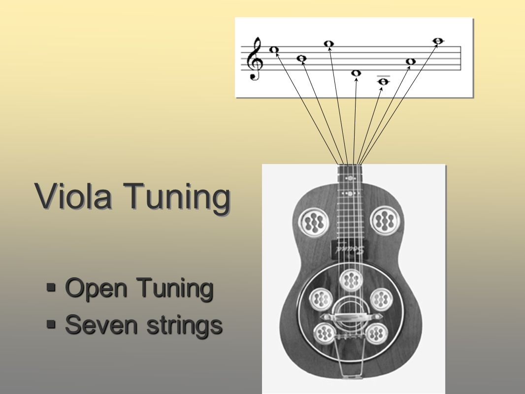 Viola Tuning Open Tuning Seven strings