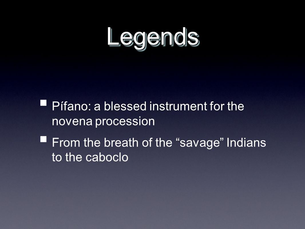 Legends Pífano: a blessed instrument for the novena procession