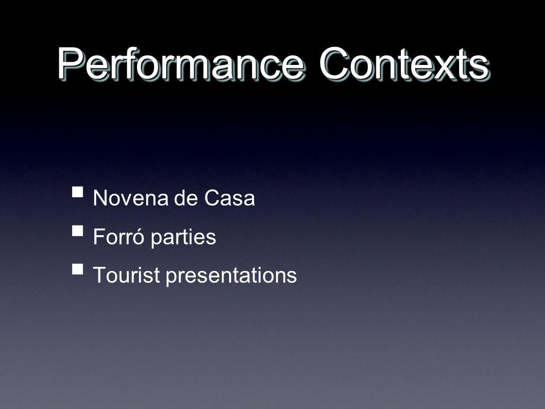 Performance Contexts Novena de Casa Forró parties