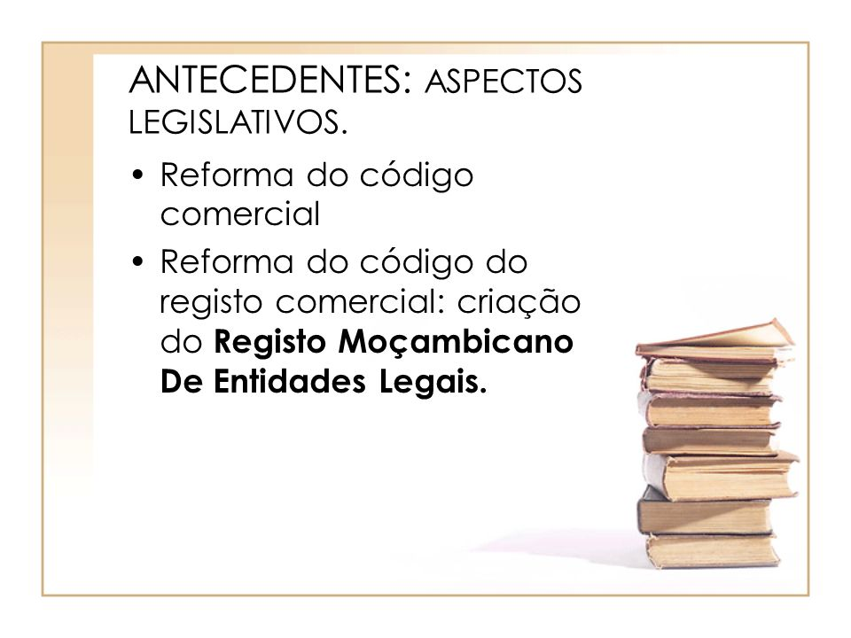 ANTECEDENTES: ASPECTOS LEGISLATIVOS.