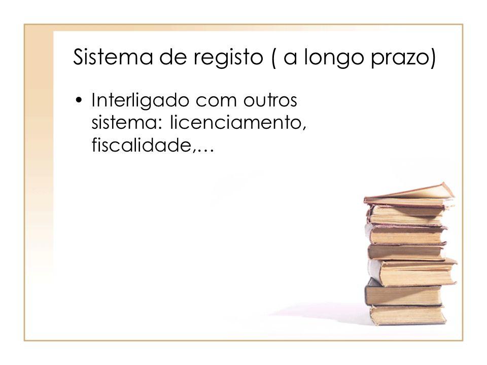 Sistema de registo ( a longo prazo)