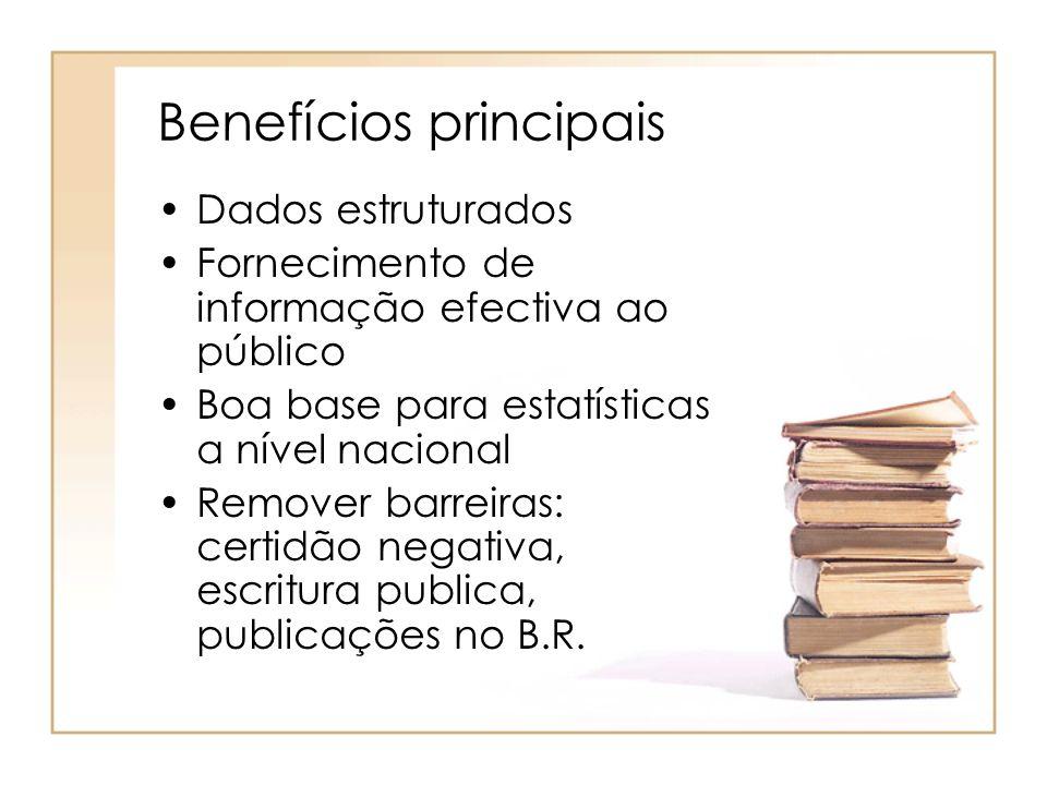 Benefícios principais