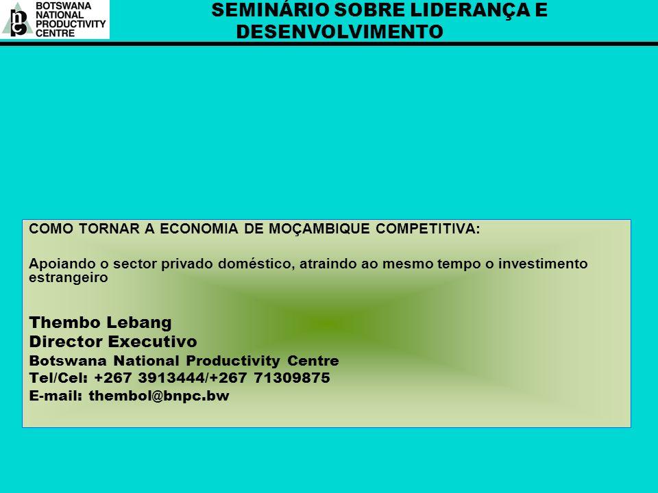 SEMINÁRIO SOBRE LIDERANÇA E DESENVOLVIMENTO