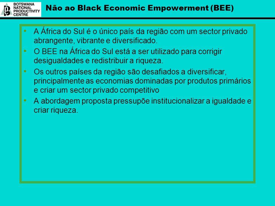 Não ao Black Economic Empowerment (BEE)