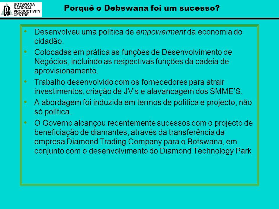 Porquê o Debswana foi um sucesso