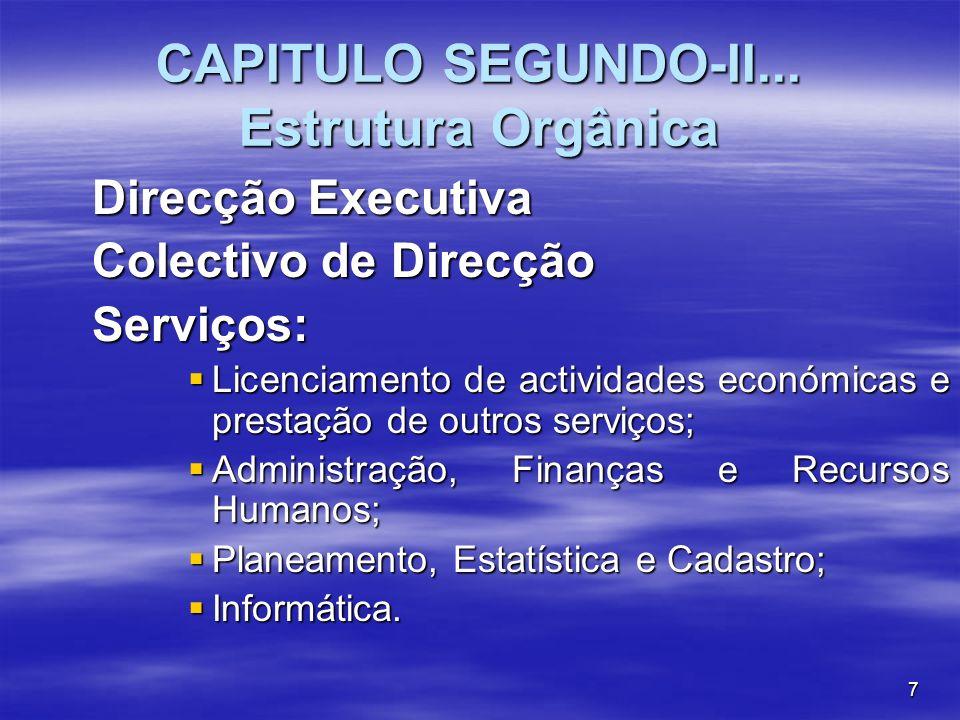 CAPITULO SEGUNDO-II... Estrutura Orgânica