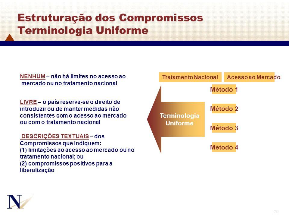 Estruturação dos Compromissos Terminologia Uniforme