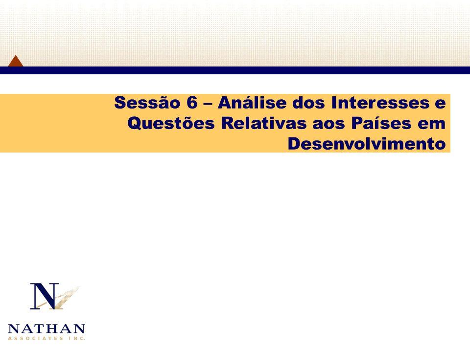 Sessão 6 – Análise dos Interesses e Questões Relativas aos Países em Desenvolvimento
