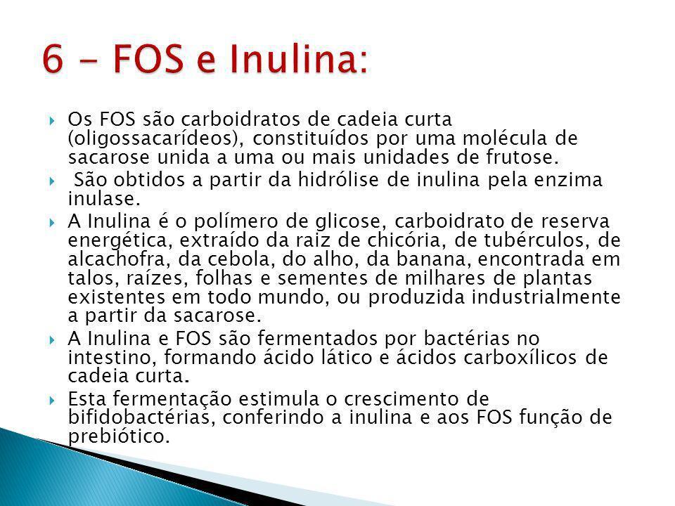 6 - FOS e Inulina: