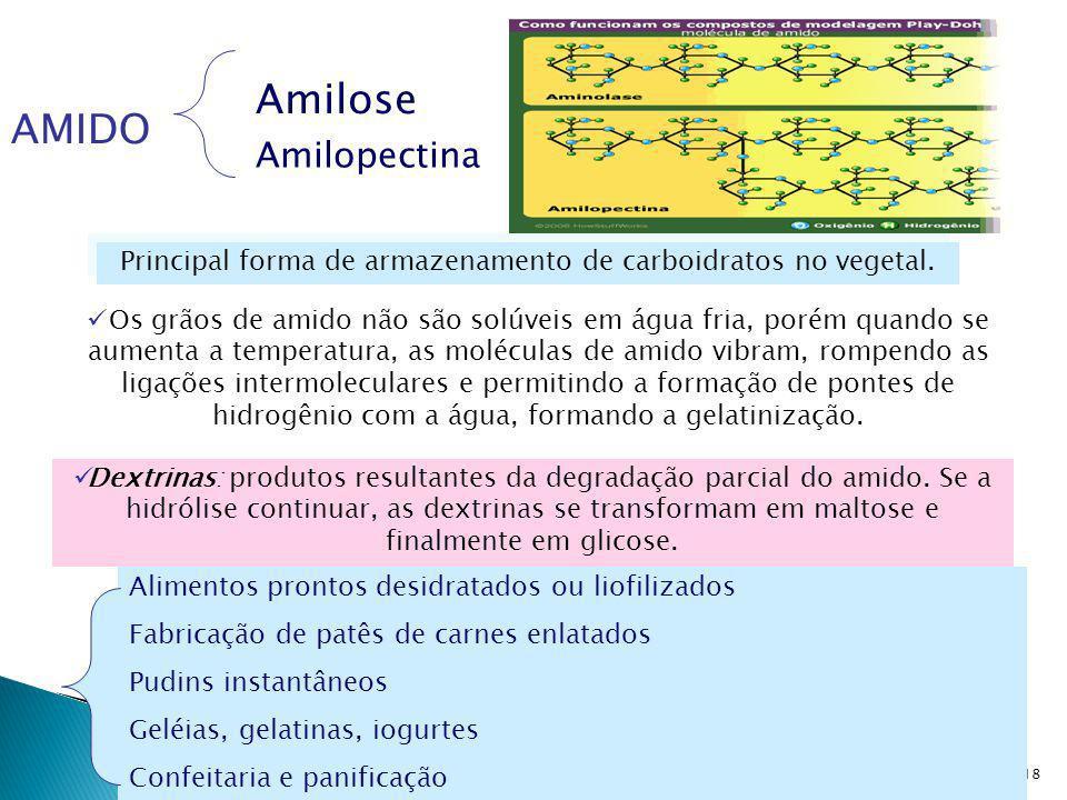 Principal forma de armazenamento de carboidratos no vegetal.