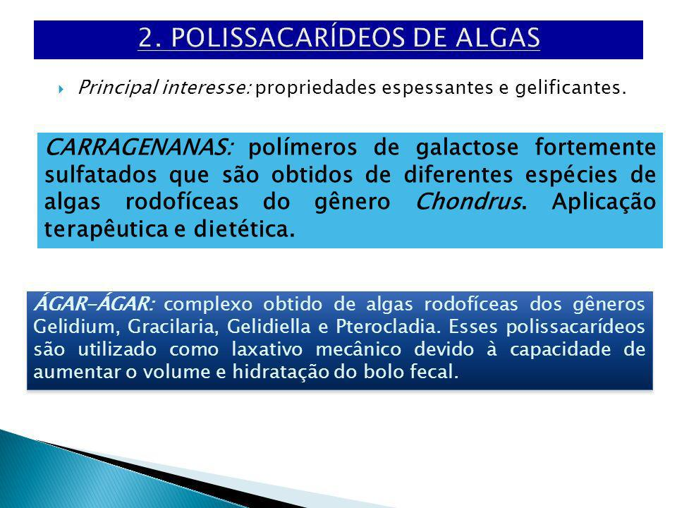 2. POLISSACARÍDEOS DE ALGAS