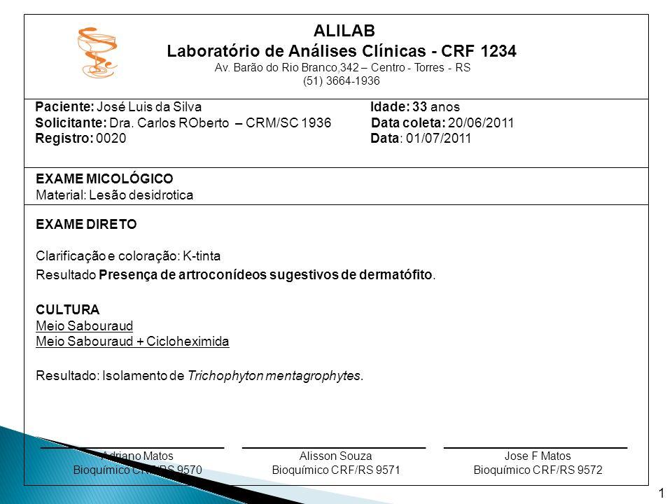Laboratório de Análises Clínicas - CRF 1234