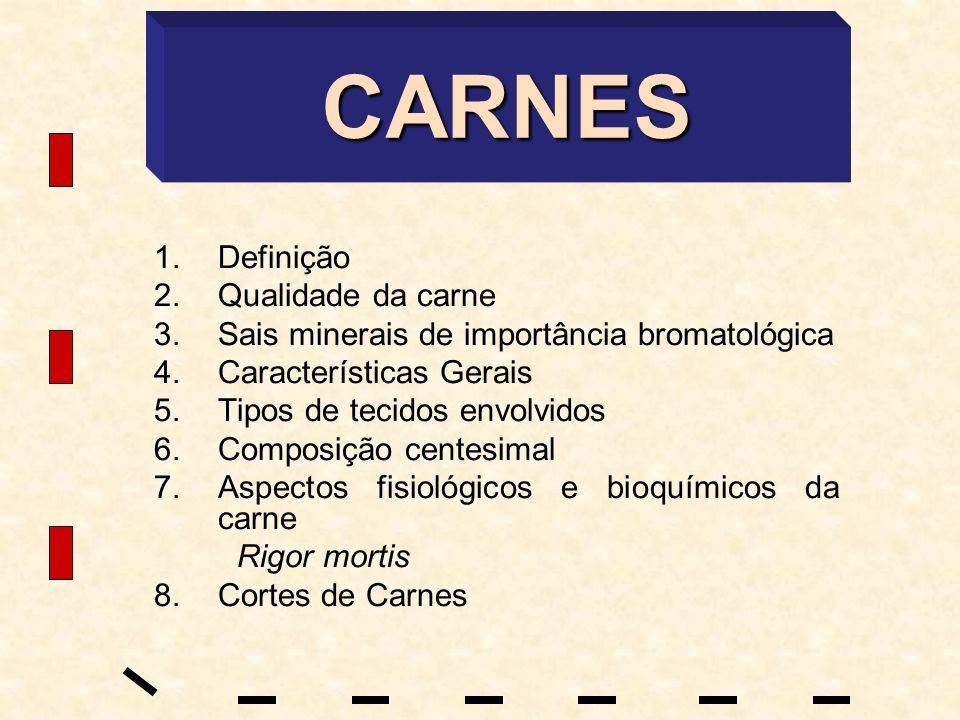CARNES Definição Qualidade da carne
