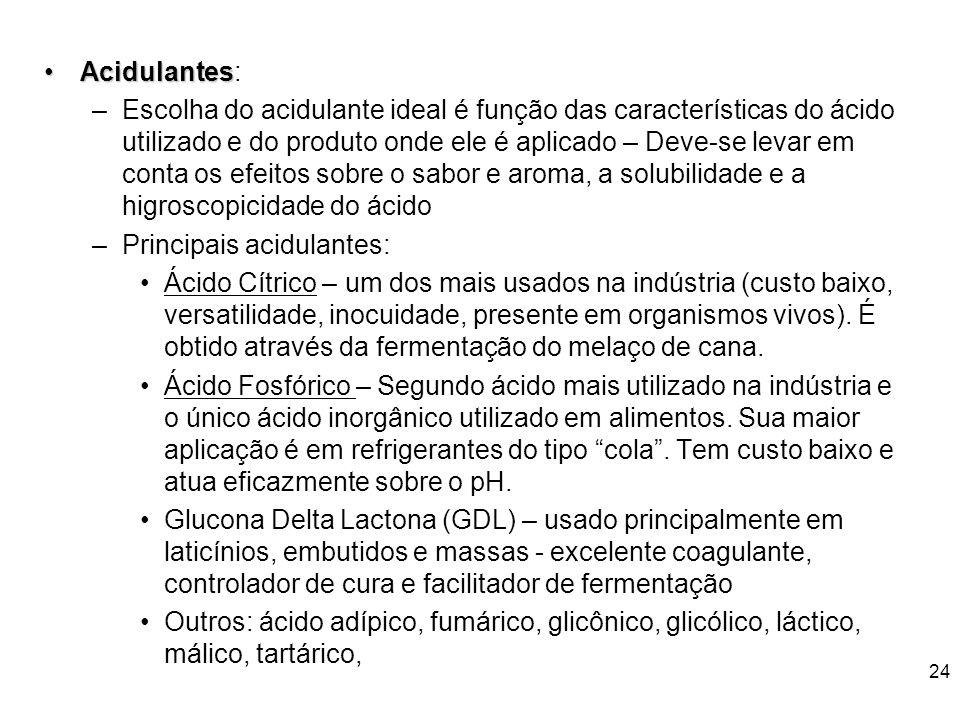 Acidulantes: