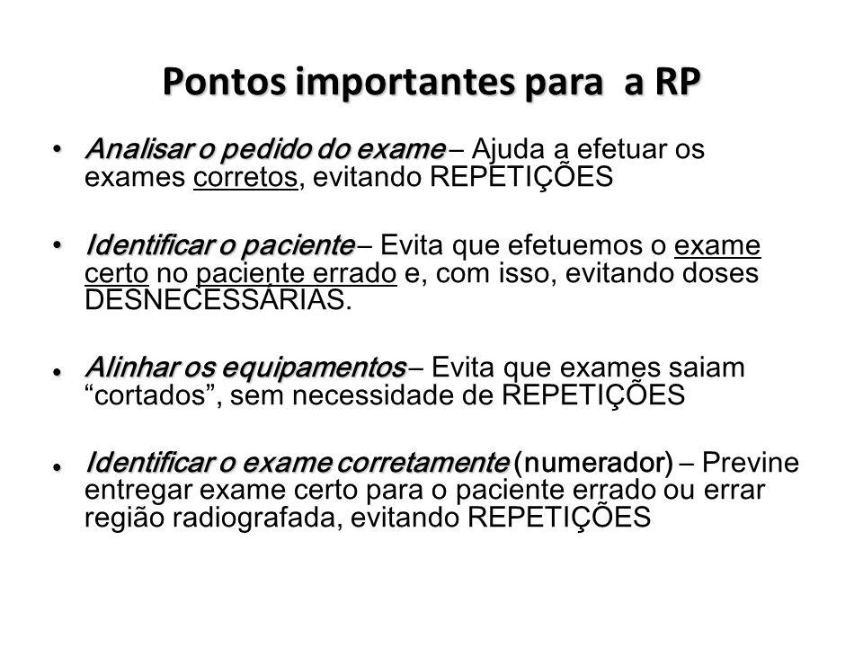 Pontos importantes para a RP