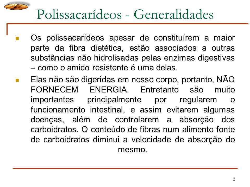 Polissacarídeos - Generalidades