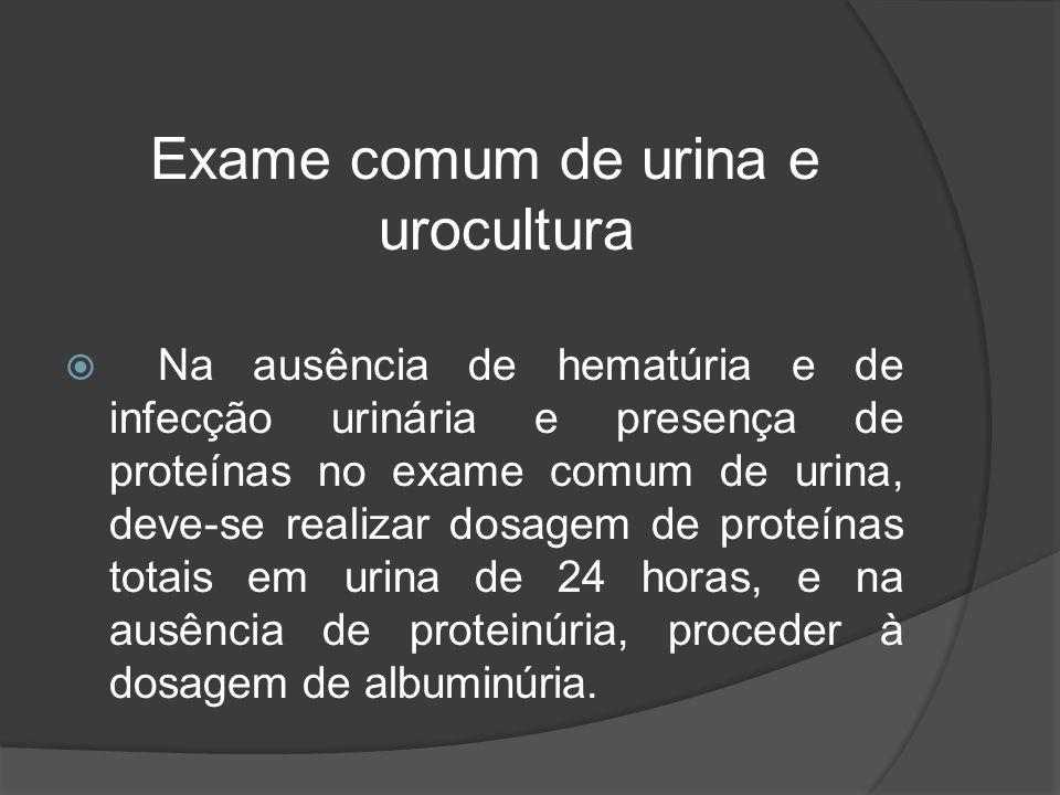 Exame comum de urina e urocultura