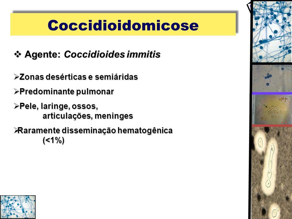 Coccidioidomicose Agente: Coccidioides immitis