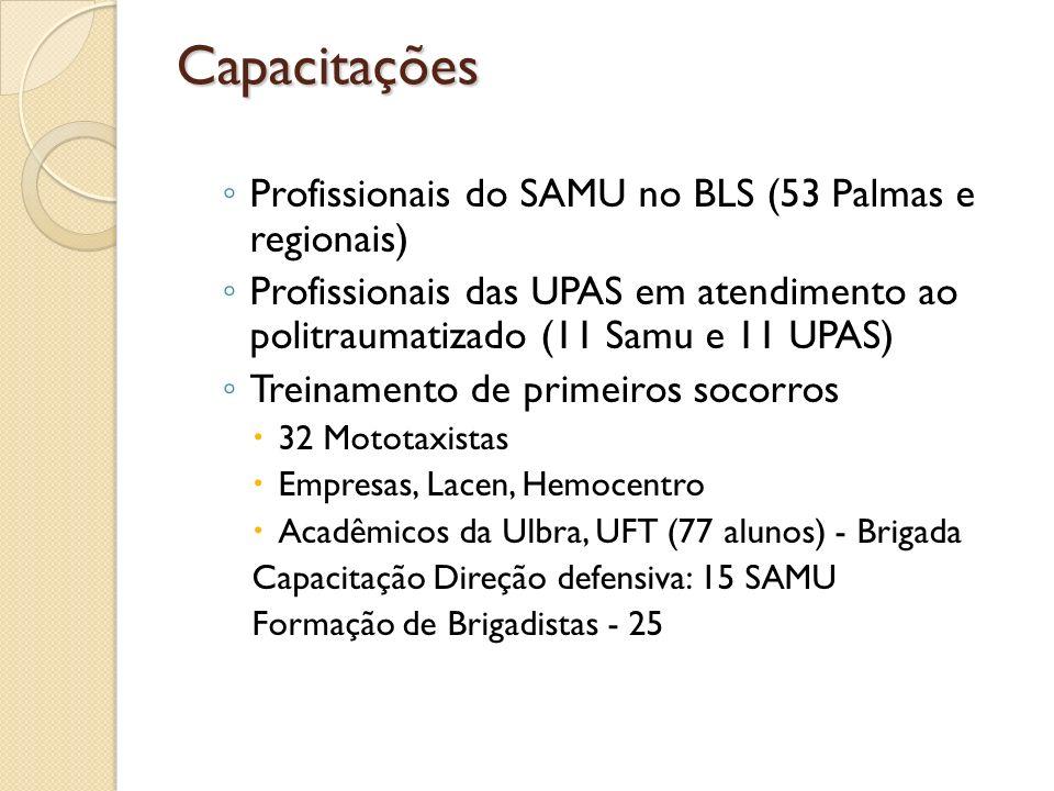 Capacitações Profissionais do SAMU no BLS (53 Palmas e regionais)