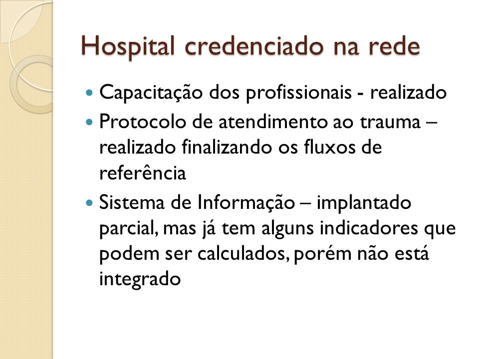 Hospital credenciado na rede