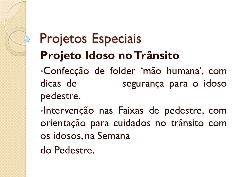 Projetos Especiais Projeto Idoso no Trânsito