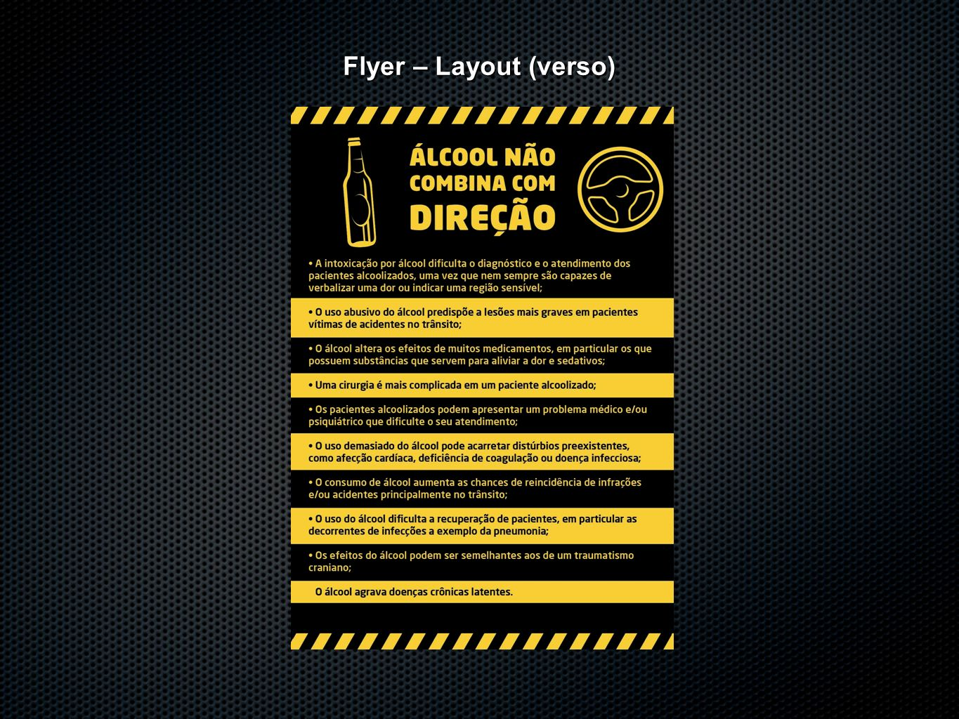 Flyer – Layout (verso)