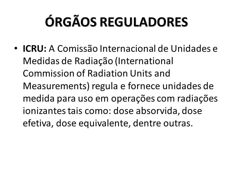 ÓRGÃOS REGULADORES