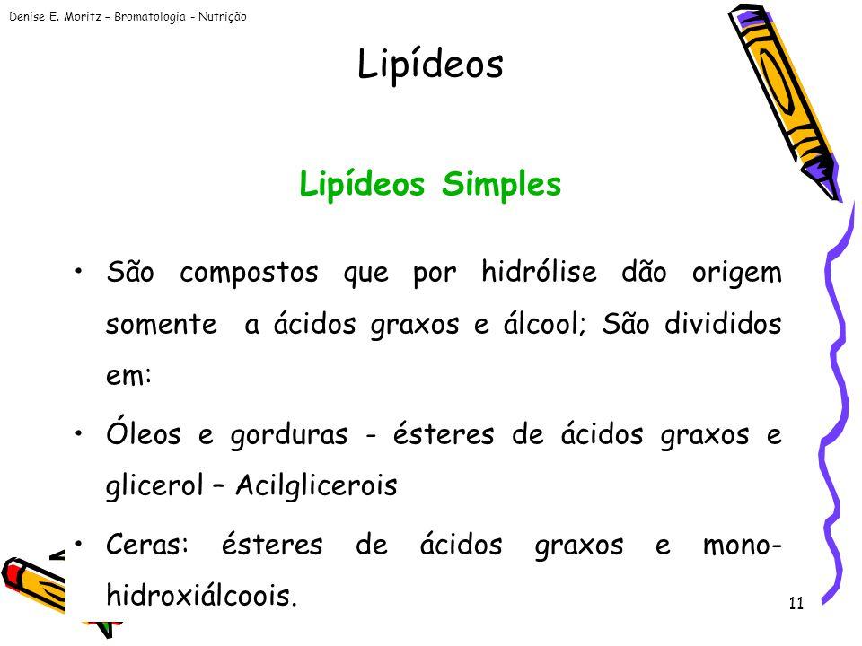 Lipídeos Lipídeos Simples