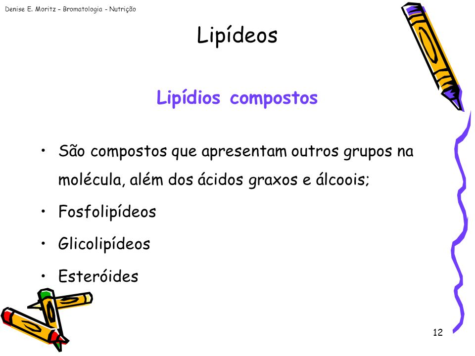 Lipídeos Lipídios compostos