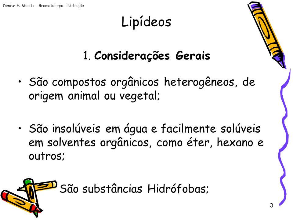 Lipídeos 1. Considerações Gerais