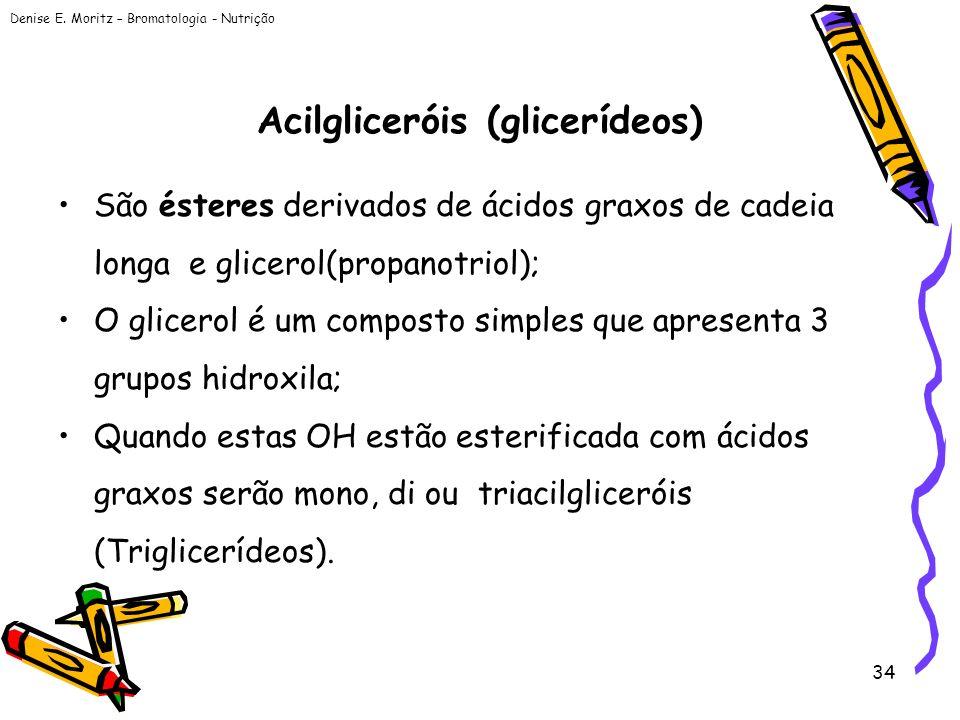 Acilgliceróis (glicerídeos)