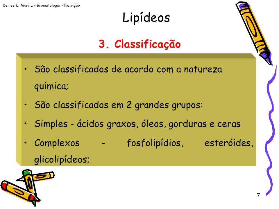 Lipídeos 3. Classificação