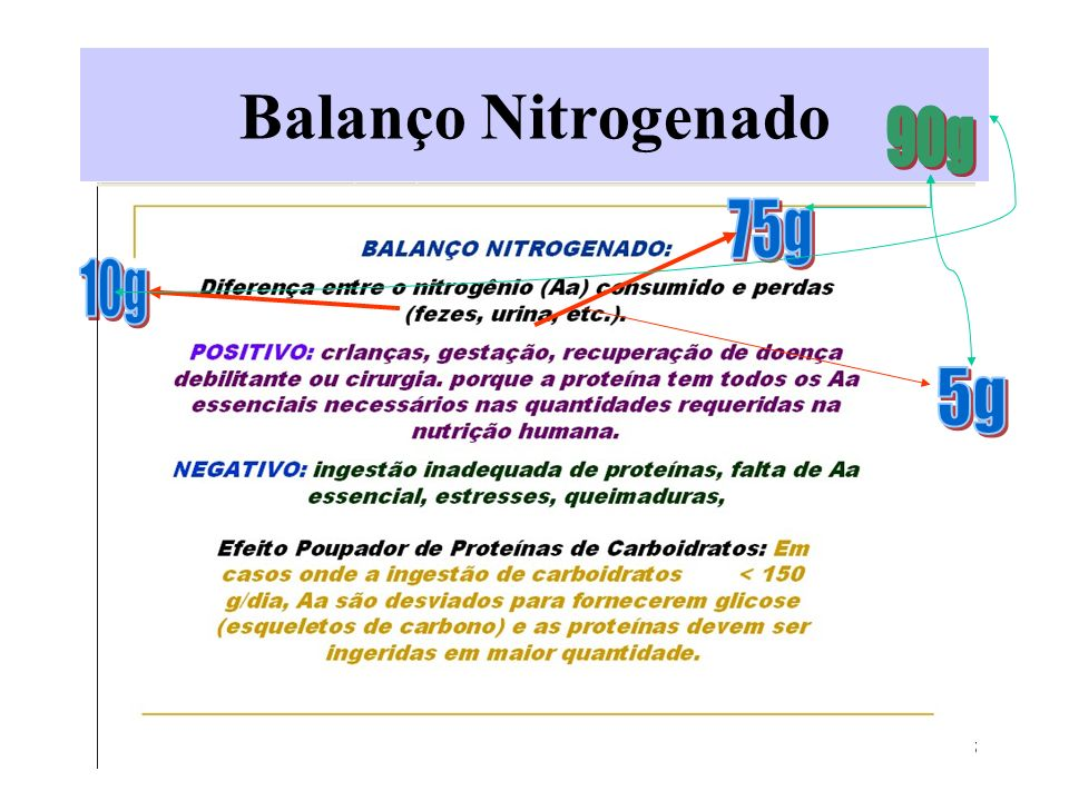 Balanço Nitrogenado 90g 75g 10g 5g