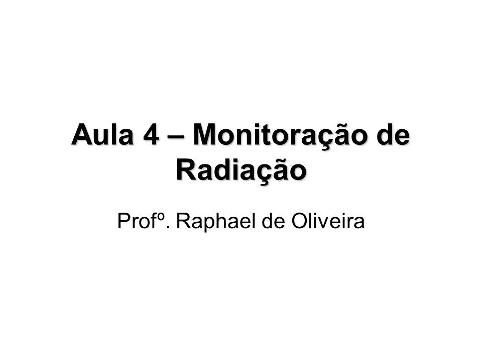 Aula 4 – Monitoração de Radiação