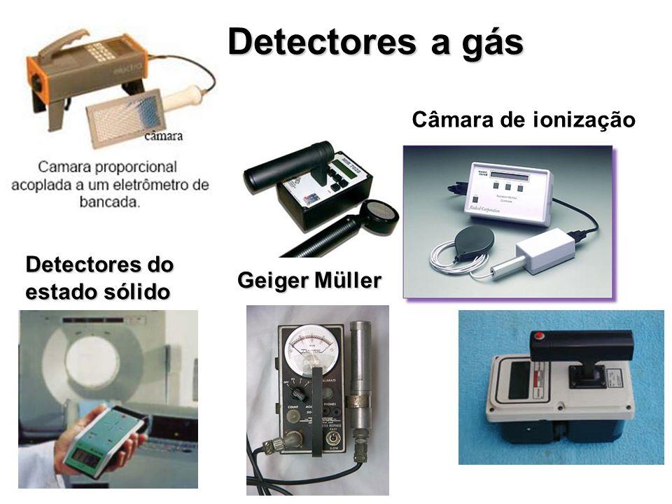 Detectores a gás Câmara de ionização Detectores do estado sólido